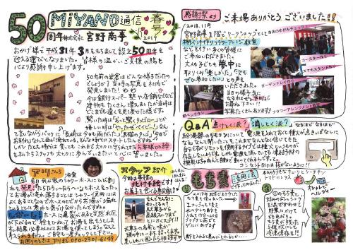 MIANO通信 2019年春号