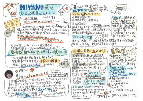 MIANO通信 2019年夏号